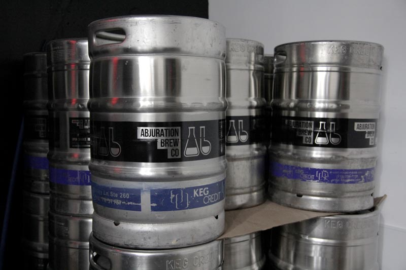 Abjuration Brewing kegs